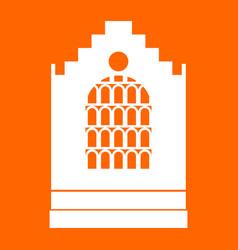 Church building white icon vector