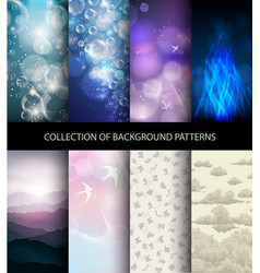 collection set of background patterns vector image