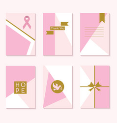 cute pink cancer awareness trendy backgrounds vector image vector image