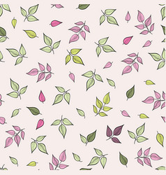Floral leaves pattern nature seamless background vector