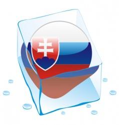 frozen button flag of slovakia vector image