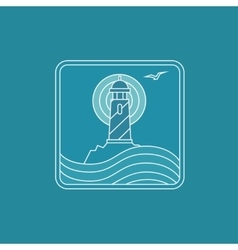 lighthouse logo design template in trendy vector image vector image