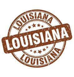 Louisiana brown grunge round vintage rubber stamp vector