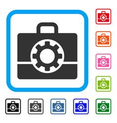 mechanics case framed icon vector image
