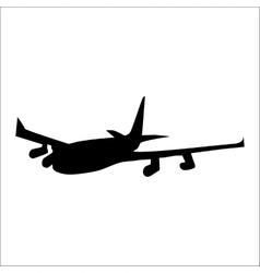Planes black silhouette vector image