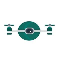 Quadrocopter drone cartoon icon vector