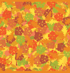 Seamless texture with colorful autumn leaves vector