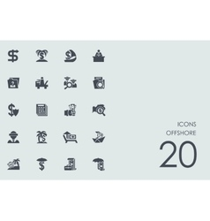 Set of produced overseas icons vector