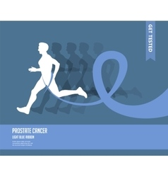 Sport woman and man with running pink and blue vector