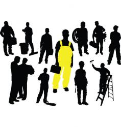 twelve workers vector image