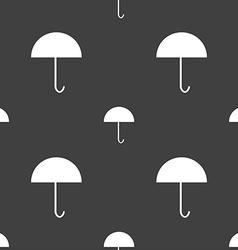 Umbrella sign icon rain protection symbol seamless vector