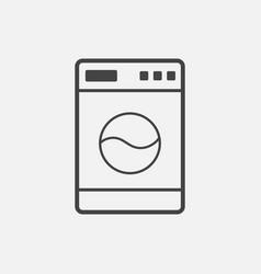 Washer flat icon laundress sign symbol flat on vector