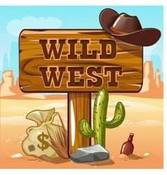 Wild west computer game background vector