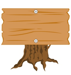 Wooden nameplate on hemp vector