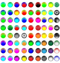 Glass buttons 081012 vector image