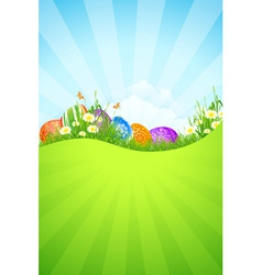 Beautiful easter holiday background vector