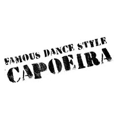 Famous dance style capoeira stamp vector