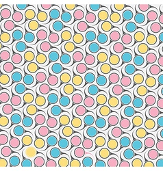 Circular retro pattern vector