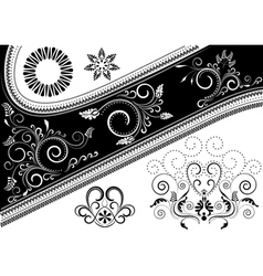 Canvas with pattern and details for design vector