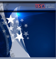 Usa flag color template vector
