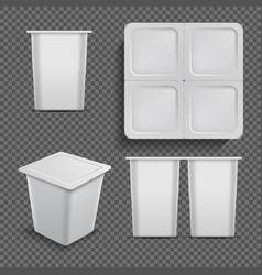 White blank container ice cream dessert and vector