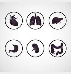 Human body parts logo set vector