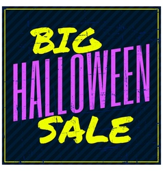 Typographic design halloween sale poster vector
