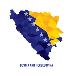 Map of bosnia herzegovina vector