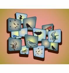 birds on a peachy background vector image