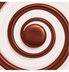 Sweet Spiral Background vector image