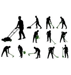 garden works vector image