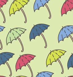 Summer rain umbrella pattern vector