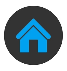 Home flat blue and gray colors round button vector