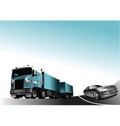 Car and lorry vector
