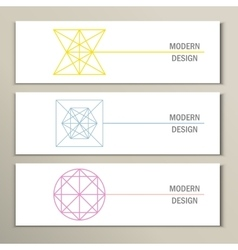 Collection of modern trendy geometric shapes vector