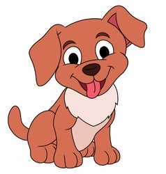 Smiling little puppy vector