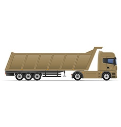 Truck semi trailer 13 vector