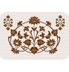 retro floral icon vector image