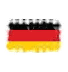 germany flag halftone vector image