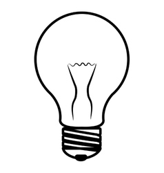 Isolated light bulb graphic vector