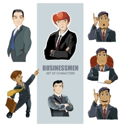Businessmen in diferent pose vector
