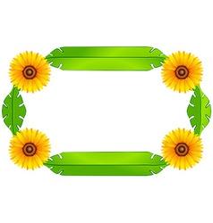 A floral border design vector
