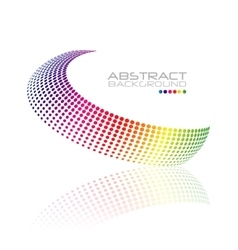 Abstract colorful swirl shape vector image vector image