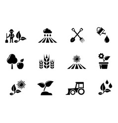 Agriculture and horticulture or gardening concept vector