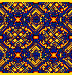 Blue yellow seamless pattern vector