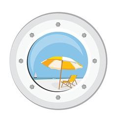 Boat round porthole vector