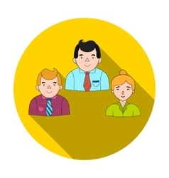 Business partners icon in flat style isolated on vector image vector image