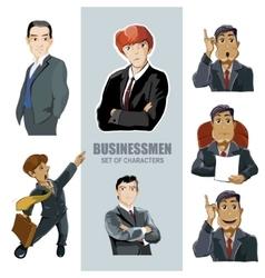 businessmen in diferent pose vector image