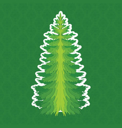 Christmas tree pine tree isolated on vector