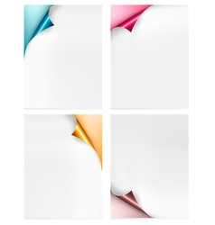 Collection of colorful paper banners Paper design vector image vector image
